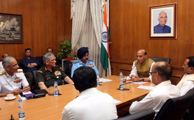 Shri Rajnath Singh assumed charge as the Raksha Mantri
