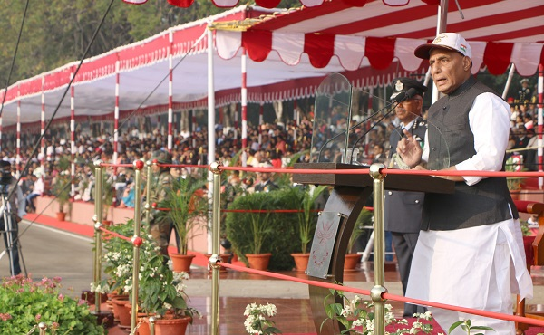 Raksha Mantri Addressing the NDA Cadets at the Passing Out Parade