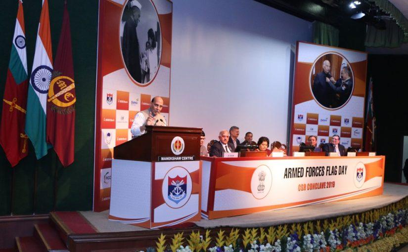 Raksha Mantri Shri Rajnath Singh calls for generous contributions to Armed Forces Flag Day Fund