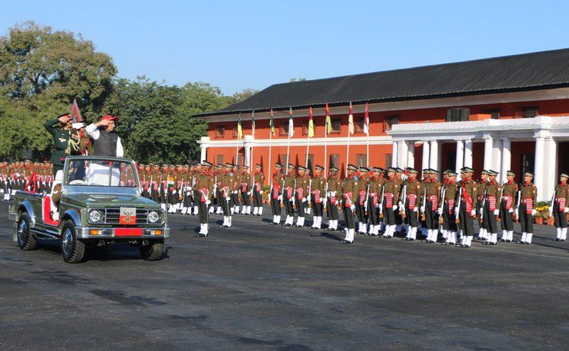 Raksha Mantri Shri Rajnath Singh reviews passing out parade of Indian Military Academy, Dehradun