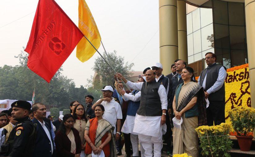Raksha Mantri Shri Rajnath Singh flags off massive campaign against single use plastic