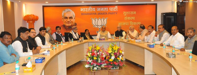 BJP-Central-Election-Committee-Meeting-at-11-Ashok-Road-New-Delhi-on-March-15-2014-2