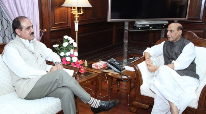 Meeting with Lt. General Ajay Kumar Singh, The Lieutenant Governor of Andaman and Nicobar Islands (20/08/2014)
