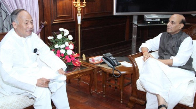 Meeting with Shri Okram Ibobi, The Chief Minister of Manipur (20/08/2014)