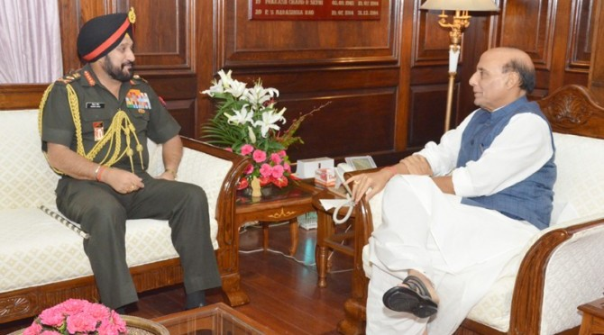 Meeting with General Bikram Singh, the Chief of Army Staff (28/07/2014)