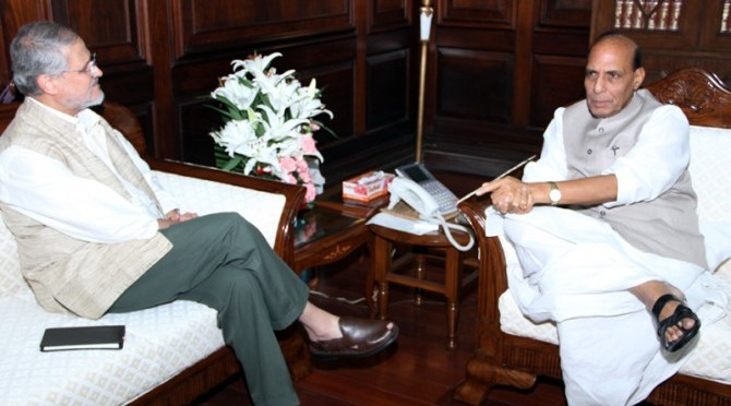 Meeting with Shri Najeeb Jung, the Lt. Governor of Delhi (24/07/2014)