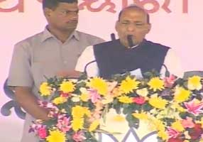 CM Should Ask for a CBI Probe into Mining Scam: Rajnath