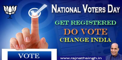 Become an integral part of the democratic electoral process on 'National Voters Day'