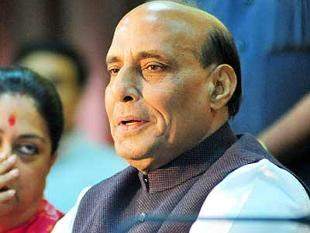 Rajnath Singh reviews the preparedness to face cyclone 'Hudhud' 10-October, 2014.
