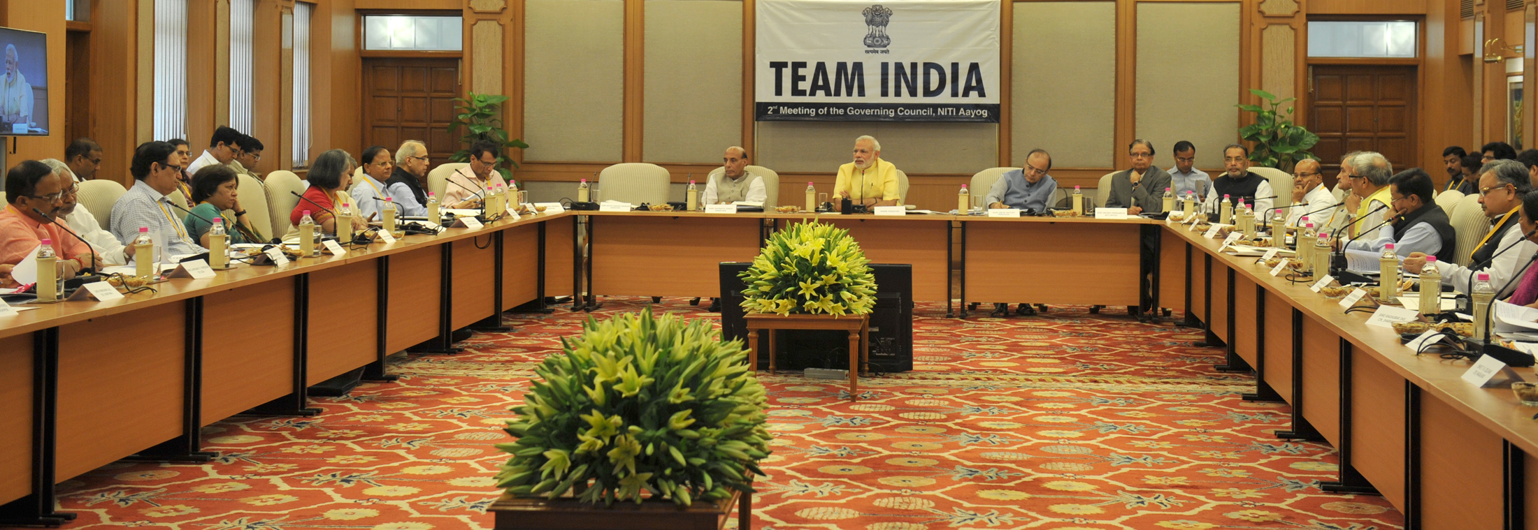 The Prime Minister, Shri Narendra Modi chairing the 2nd meeting of the Governing Council of NITI Aayog, in New Delhi on July 15, 2015.