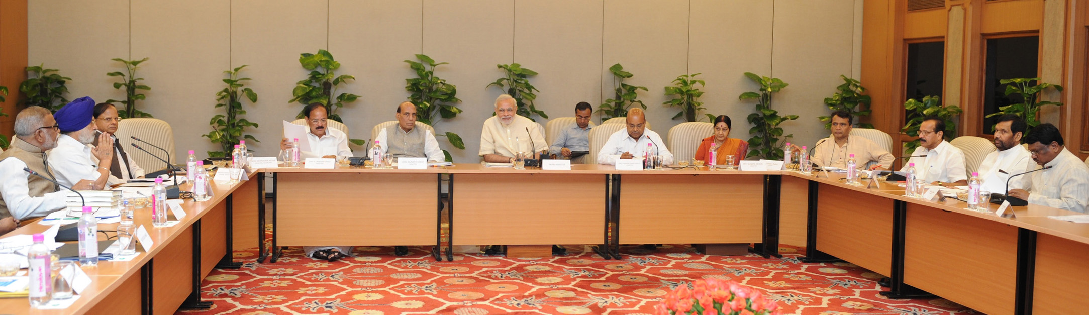 The Prime Minister, Shri Narendra Modi chairing the meeting of the National Committee on Nation-wide Celebration of 125th Birth Anniversary of the Dr. B.R. Ambedkar, in New Delhi on July 23, 2015.
