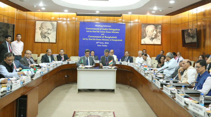 Home Minister level bilateral talks between India and Bangladesh held in New Delhi