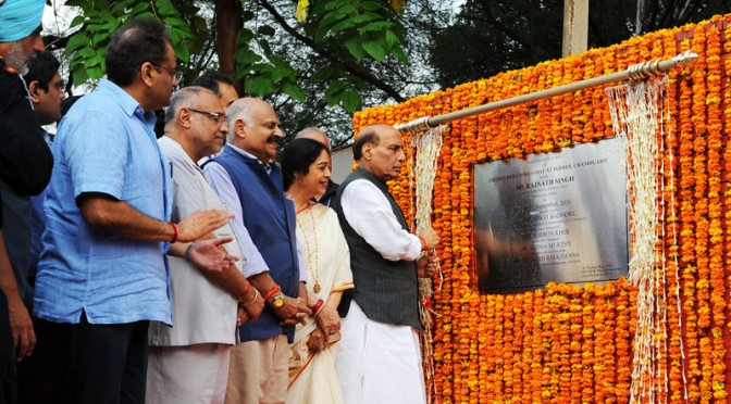 Union Home Minister Rajnath Singh Lays Foundation Stone for the Construction of Infosys Red Cross Sarai At PGIMER
