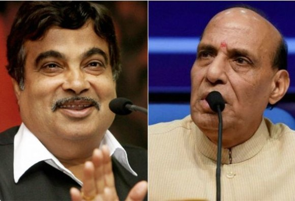 Rajnath, Gadkari lay foundation of outer ring road project in Lucknow