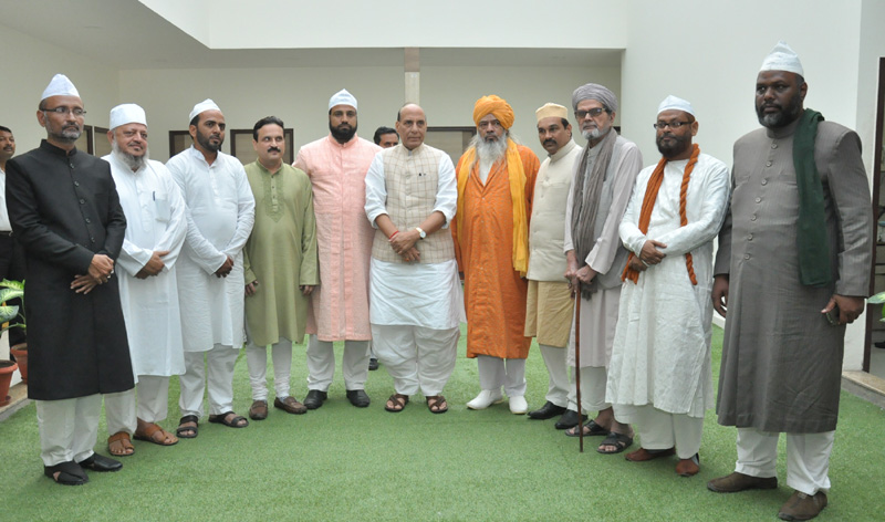Eminent Muslim spiritual heads call on the Union Home Minister