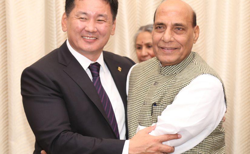 Mongolian delegation led by Deputy Prime Minister meets the Union Home Minister Shri Rajnath Singh