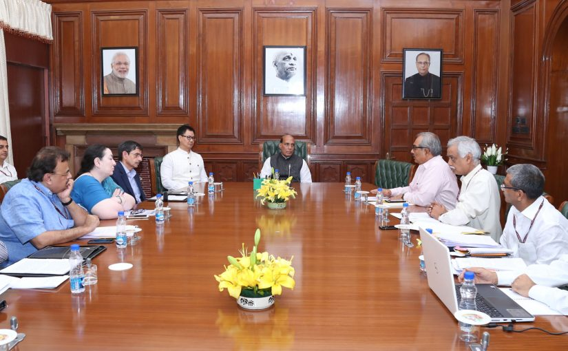 HM Shri Rajnath Singh chairs a meeting to review the situation in North East