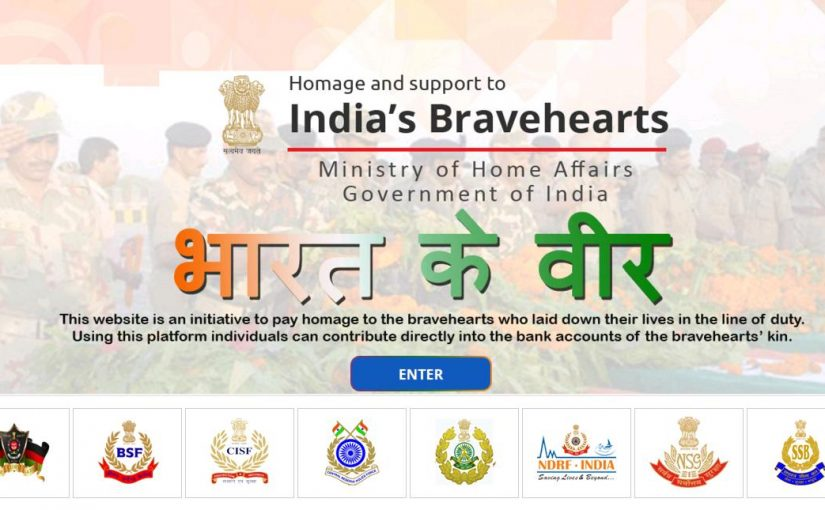 Union Home Minister Shri Rajnath Singh appeals people to support families of Martyr Jawans using 'Bharat Ke Veer' initiative