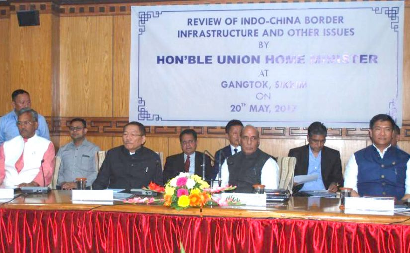 Union Home Minister Shri Rajnath Singh chairs the first meeting of CMs of 5 States on Indo-China Border in Gangtok