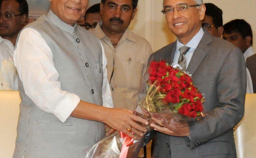 Union Home Minister Shri Rajnath Singh meets Mauritius Prime Minister Mr. Pravind Kumar Jugnauth