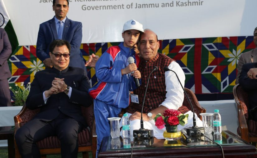 Home Minister Shri Rajnath Singh meets youths from Jammu and Kashmir