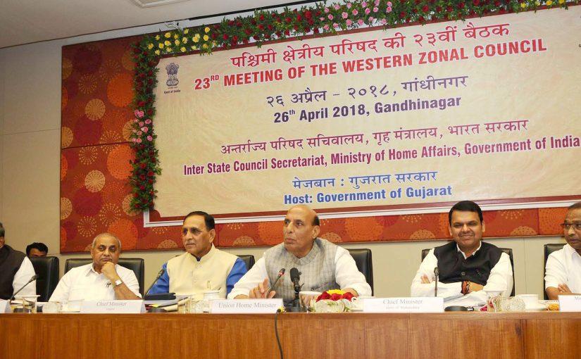 Shri Rajnath Singh chairs 23rd meeting of Western Zonal Council at Gandhinagar