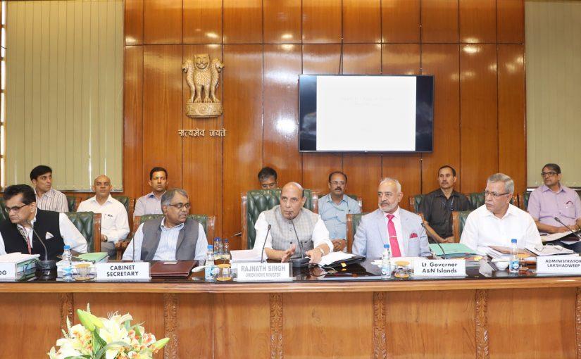 Shri Rajnath Singh chairs third meeting of Island Development Agency