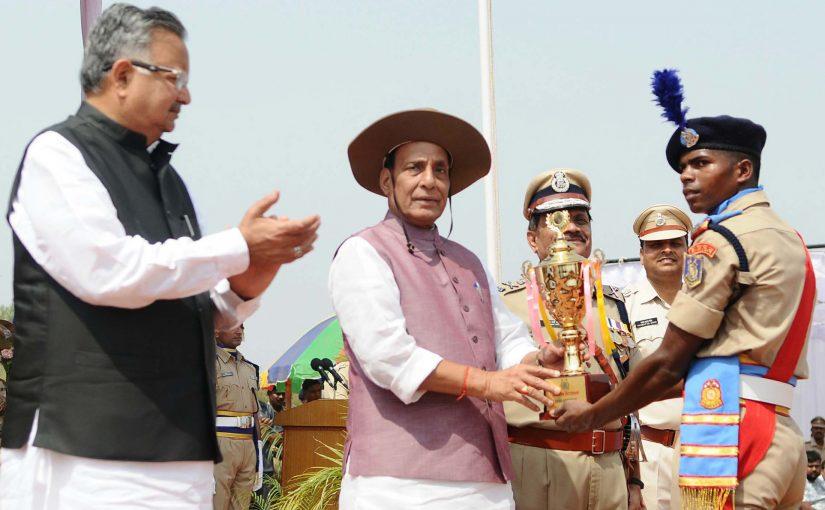 Shri Rajnath Singh attends passing out parade of 241 Bastariya Battalion of CRPF in Chhattisgarh