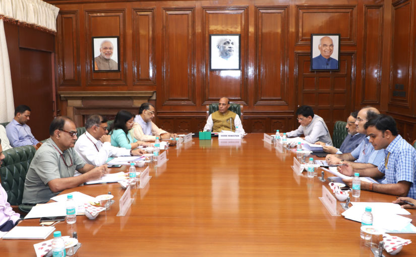 Union Home Minister Shri Rajnath Singh chairs High Level Committee meeting for Central assistance to states of Andhra Pradesh, Arunachal Pradesh and Nagaland