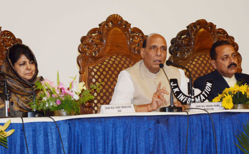 Open for talks with anyone, but they should be right minded: Union Home Minister at a press conference in Srinagar