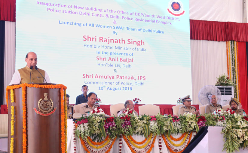 Shri Rajnath Singh hails induction of all-women SWAT team of Delhi Police