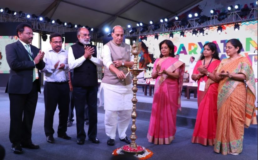 Home Minister Shri Rajnath Singh attended the inaugural ceremony of 'Paryatan Parv' at the lawns of India Gate in New Delhi.