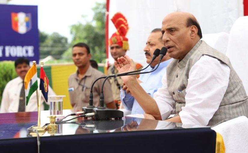 Shri Rajnath Singh inaugurates smart fencing project along International Border in J&K