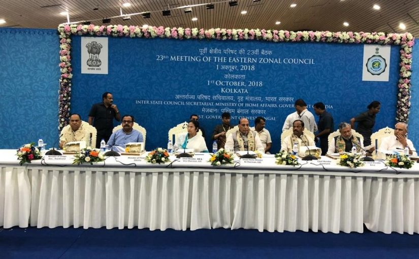 Union Home Minister Shri Rajnath Singh chairs meeting of Eastern Zonal Council in Kolkata