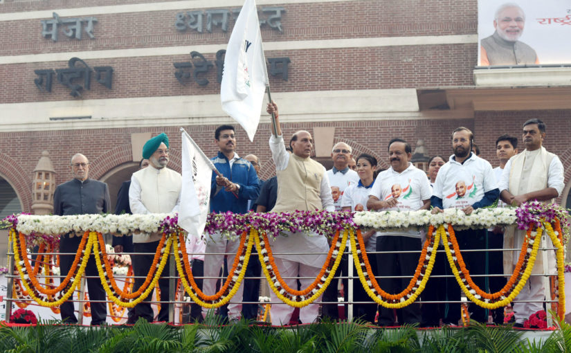 "Union Home Minister Shri Rajnath Singh flags off ""Run for Unity"", administers Ekta Pledge"