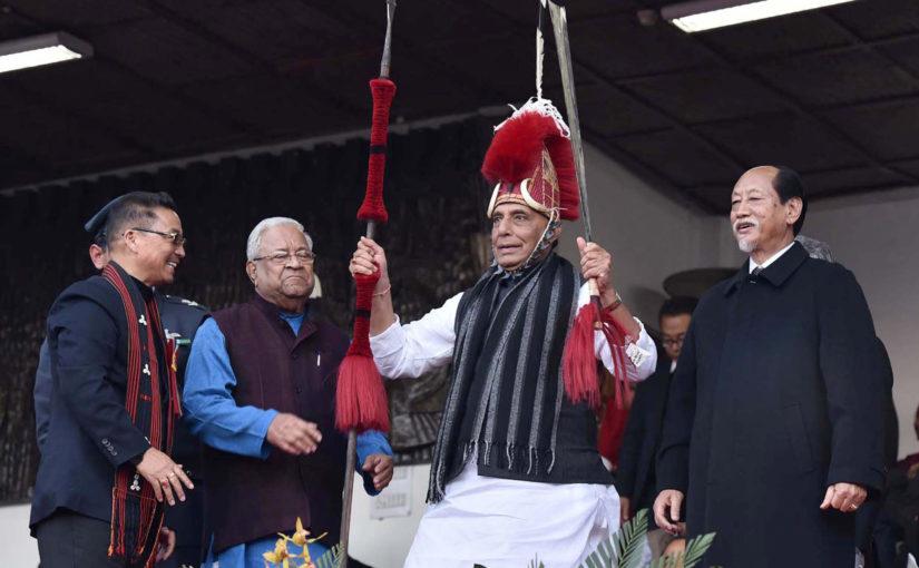Union Home Minister Shri Rajnath Singh inaugurates Hornbill Festival in Kohima