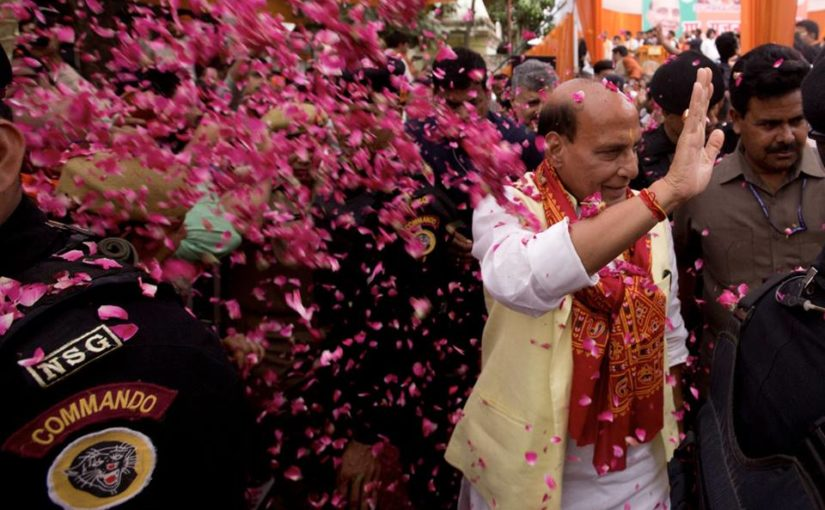 Shri Rajnath Singh roadshow in Lucknow