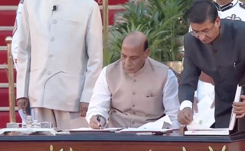 Shri Rajnath Singh takes oath as Union Cabinet Minister