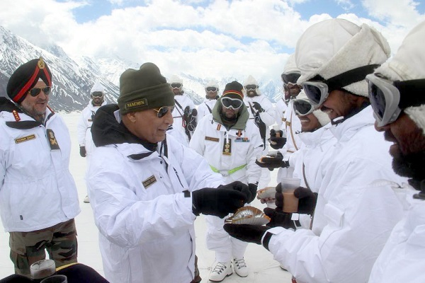 'I salute,' tweets defence minister Rajnath Singh from Siachen Glacier