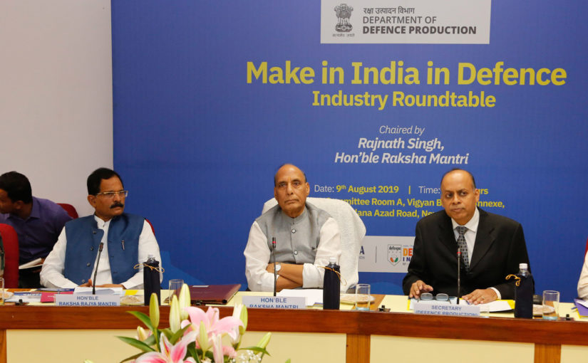 'रक्षा उद्योग में मेक इन इंडिया' के लिए रक्षा मंत्री राजनाथ सिंह शीर्ष रक्षा एवं एयरोस्पेस निर्माताओं के साथ गोलमेज वार्ता की अध्यक्षता करेंगे