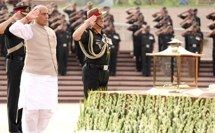 Homage and Victory Flame IIIumination Ceremony at War Memorial, New Delhi.
