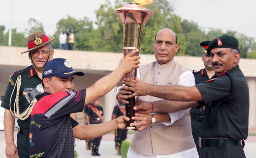 Raksha Mantri Lights Victory Flame to Mark 20 Years of Kargil War