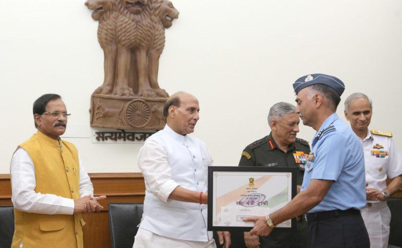 Raksha Mantri Awards RM Trophy for Best Command Hospitals