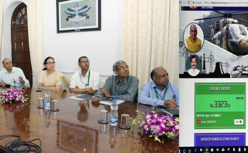 रक्षा मंत्री श्री राजनाथ सिंह ने प्रमुख रक्षा उत्पादन कार्यक्रमों की कारगर निगरानी के लिए डैशबोर्ड लांच किया
