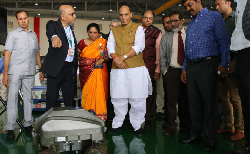 Raksha Mantri Shri Rajnath Singh appreciates development of indigenous defence systems