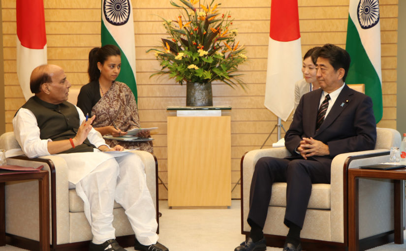 Raksha Mantri Shri Rajnath Singh co-chairs Japan – India Defence Ministerial Meeting with Japanese Defence Minister Mr Takeshi lwaya