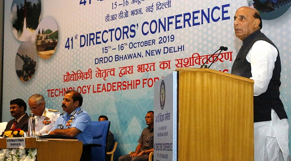 Raksha Mantri Shri Rajnath Singh urges scientists to strive more for making India global leader in cutting-edge defence technology; lauds DRDO's efforts for 'Make in India'