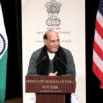 Raksha Mantri Shri Rajnath Singh interacts with Indian community in New York ahead of India-US 2+2 dialogue