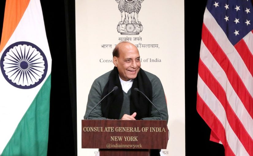 Raksha Mantri Shri Rajnath Singh interacts with Indian community in New York ahead of India-US 2+2 dialogue