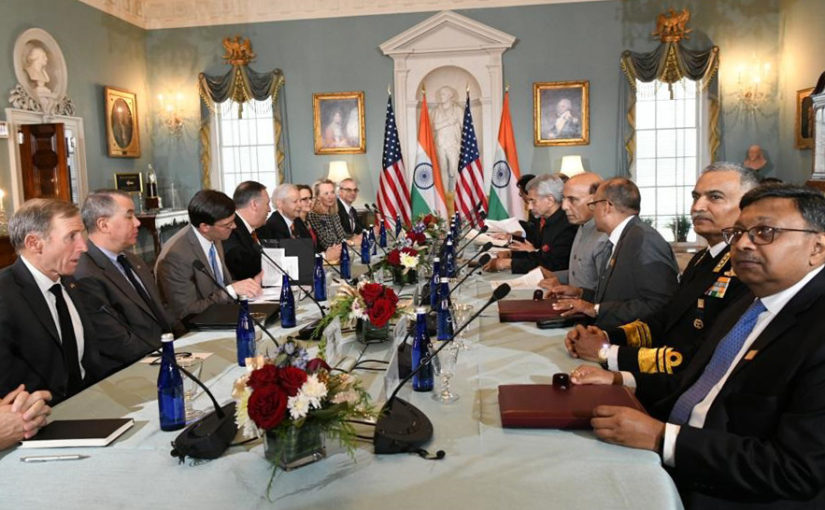 India-US 2+2 Dialogue provides positive and forward-looking vision for strategic partnership between the two countries